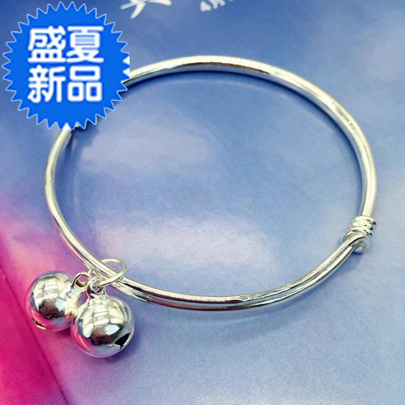Chinas new Korean version of small fresh bell Bracelet Silver Fashion Chain girl face simple 100 11 build temperament