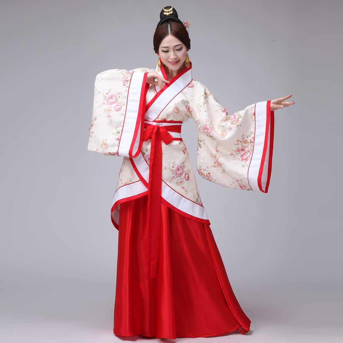 服饰舞蹈服娘娘明朝日常时尚古装服装仙女清新淡雅天空城唐装公主