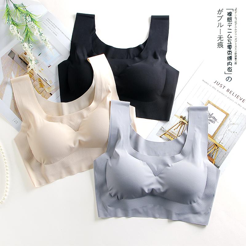 日本薄款内衣少女学生聚拢无钢圈文胸跑步防震运动背心式胸罩女夏