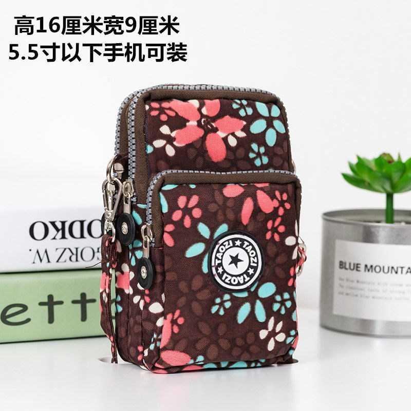 韩版手机包女斜挎包手机袋挂脖装零钱包防水大号三拉链钱包单肩包