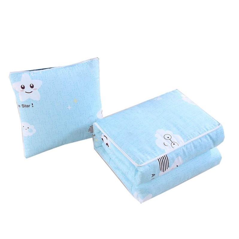 宝宝二合一多功能两用冬一对拍2双人车上枕头两用卡通可抱枕被子