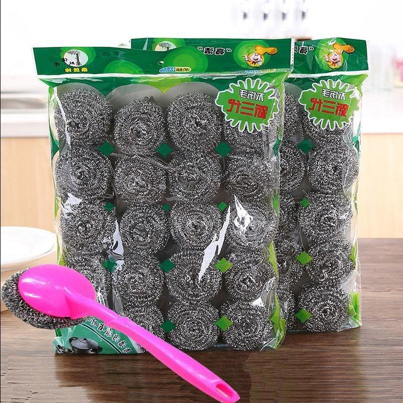 Stainless steel wire ball cleaning ball [10 / 20 / 40 / 60 pack] kitchen dishwasher