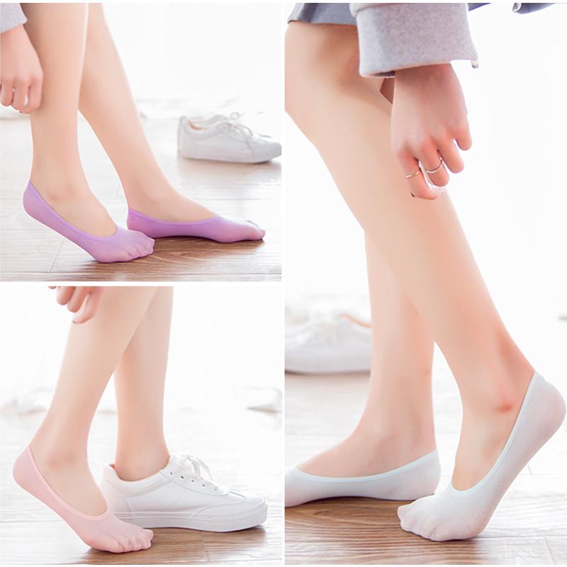 冰丝祙子女春夏季超薄船袜女士浅口低帮女祙防滑冰丝袜浅口 隐形