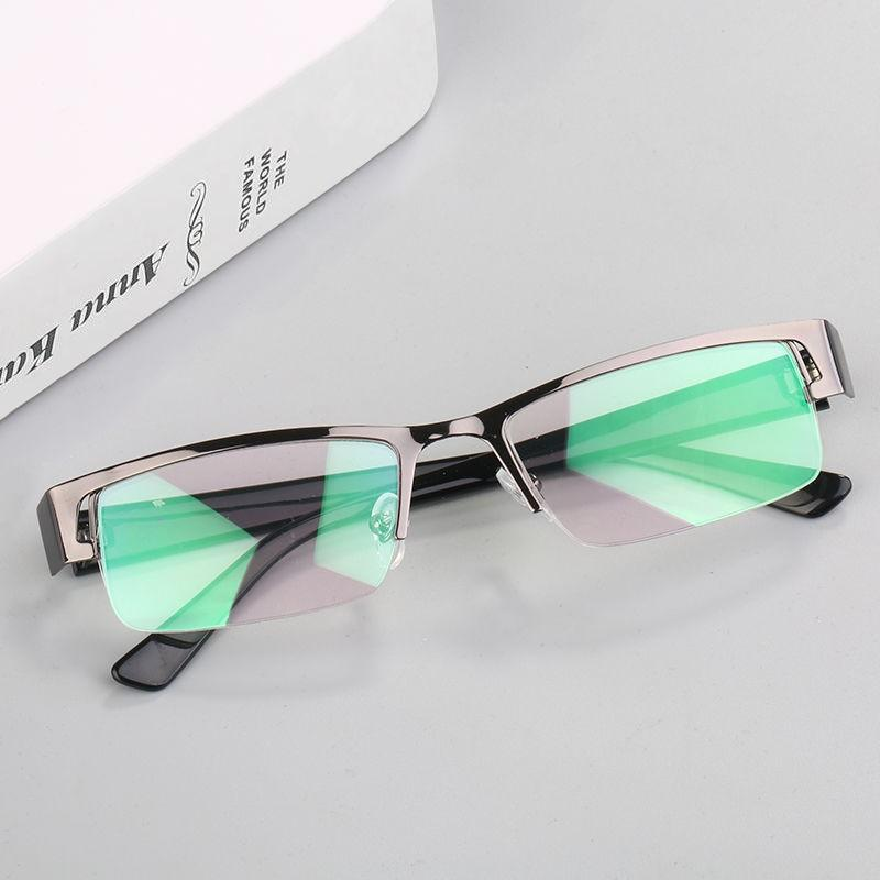 After the year, we will ship the nearsighted glasses for men with half frame ultra light titanium alloy and anti blue light glasses