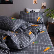 件套4床笠三1.8m北欧简约全棉床上床品四件套纯棉床单被套ins网红