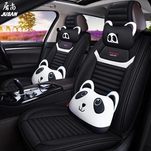 汽车坐垫四季通用亚麻布艺汽车座套全包围专用座垫新款秋冬座椅套