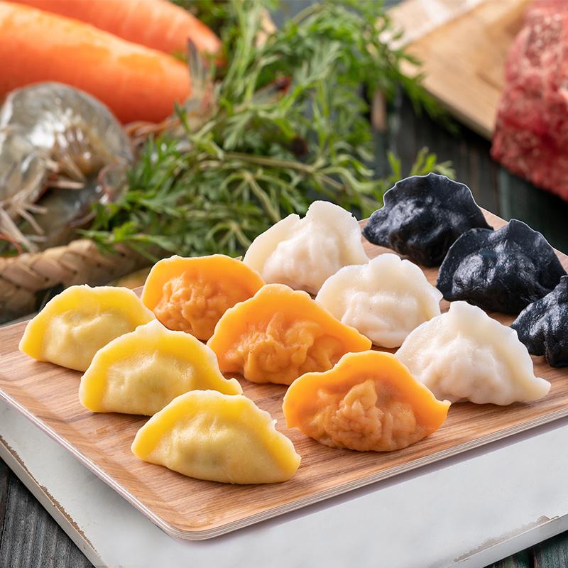 船歌鱼儿童水饺4袋装*230g 墨鱼黄花鱼玉米虾牛肉虾宝宝水煮包邮