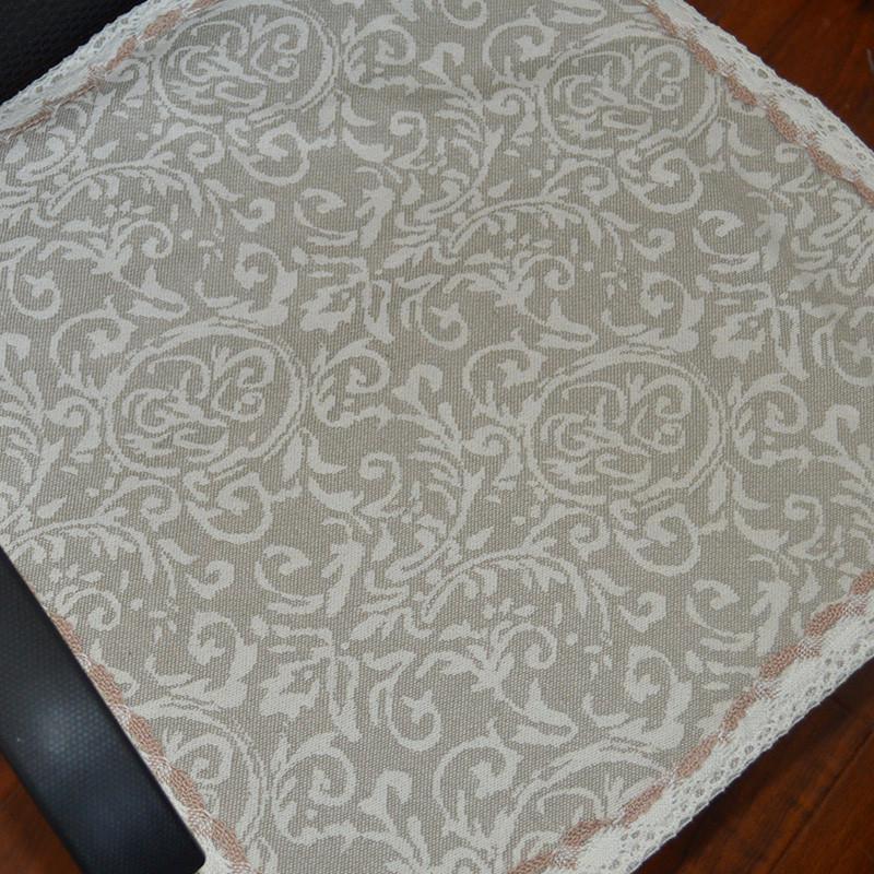 棉麻坐垫椅垫餐椅垫凳子垫夏季透气双层加厚办公室电脑椅椅子垫