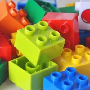 大颗粒积木百变汽车总动员拼装汽车益智积木拼插玩具3-6周岁男孩