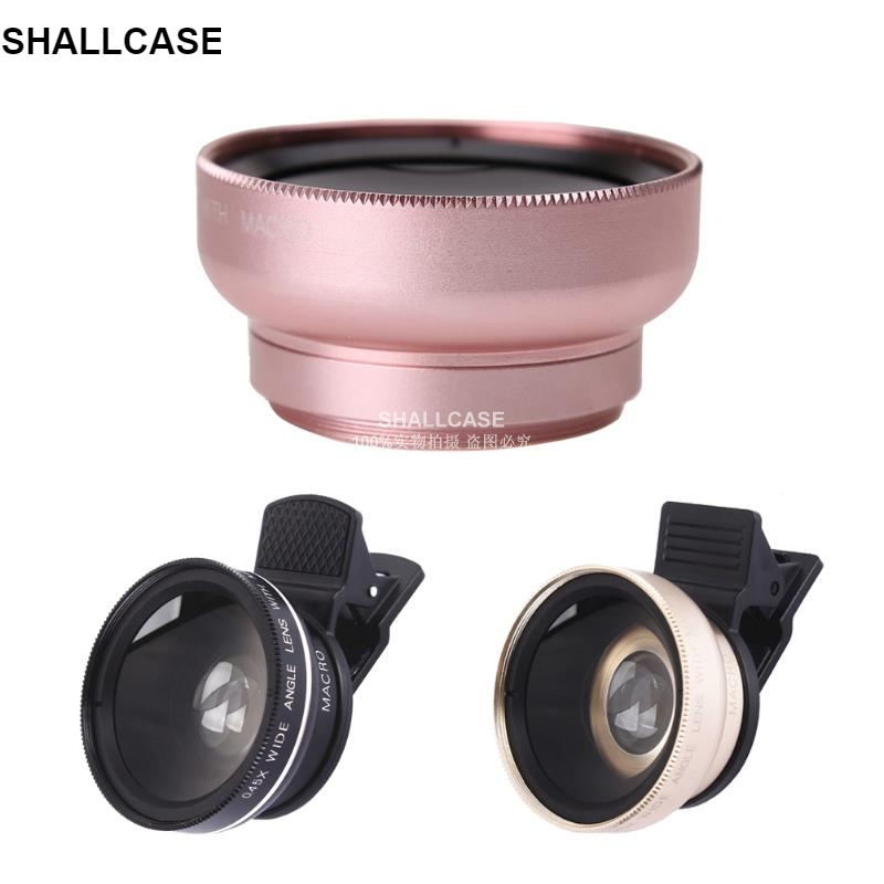 2 In 1 Phone Lens HD 37mm 0.45X Super Wide Angle 12.5X,可领取元淘宝优惠券