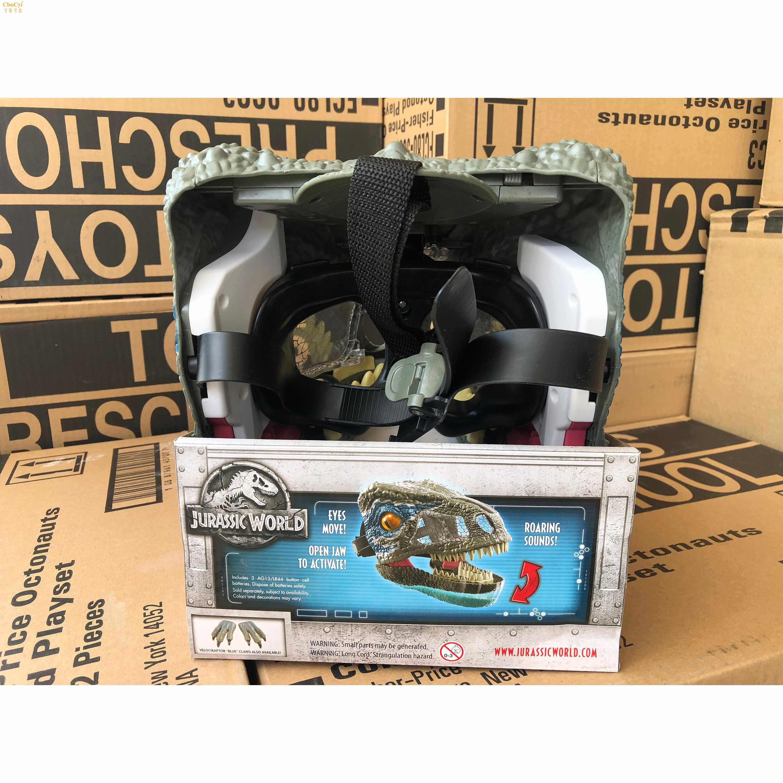 侏罗纪世界2电影声效恐龙面具FMB74男孩玩具礼物迅猛龙BL