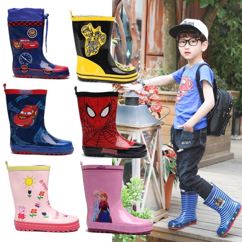 幼儿儿童雨鞋男童宝宝橡胶雨靴环保材质防滑水鞋女童卡通保暖套鞋,可领取3元天猫优惠券