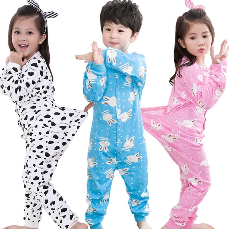 纯棉大码儿童连体睡衣2-7岁3春秋4长袖5中小孩6幼儿男女宝宝哈衣,可领取3元天猫优惠券