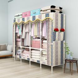 衣柜出租房用简易布衣柜钢管加粗加固加厚家用卧室全钢架简约现代