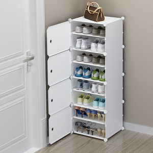 鞋架宿舍简易门口网红防尘家用室内好看收纳神器卧室小型窄鞋柜子
