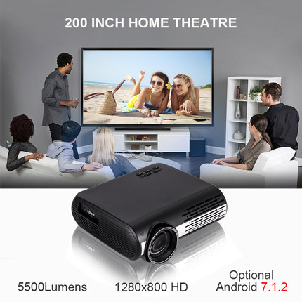 1080p HD Projector WiFi Bluetooth Home Theater LED Video
