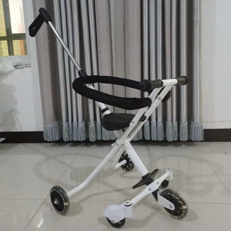 11月14日最新优惠中国侧翻折叠便捷式儿童三轮车手推车遛娃神器 升级版溜娃神器五