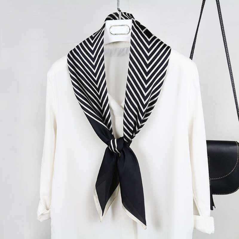 New Nordic striped scarves womens scarves French soft and versatile scarves
