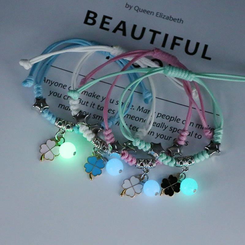 Bracelet children girl students lovely four friends Bracelet luminous female students 35 Korean version of fashion