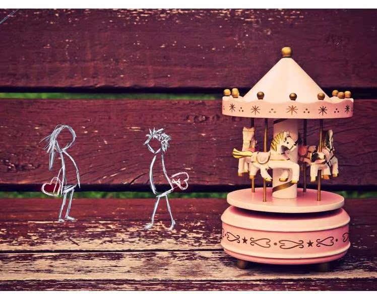 旋转木马音乐盒八音盒生日礼物女生女孩七夕情人节送女友情浪漫49.00元包邮