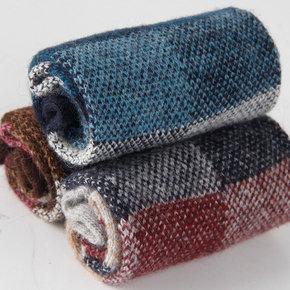 浪莎袜子男士兔羊毛袜男羊绒秋冬季毛绒加厚保暖男袜中长筒高筒袜