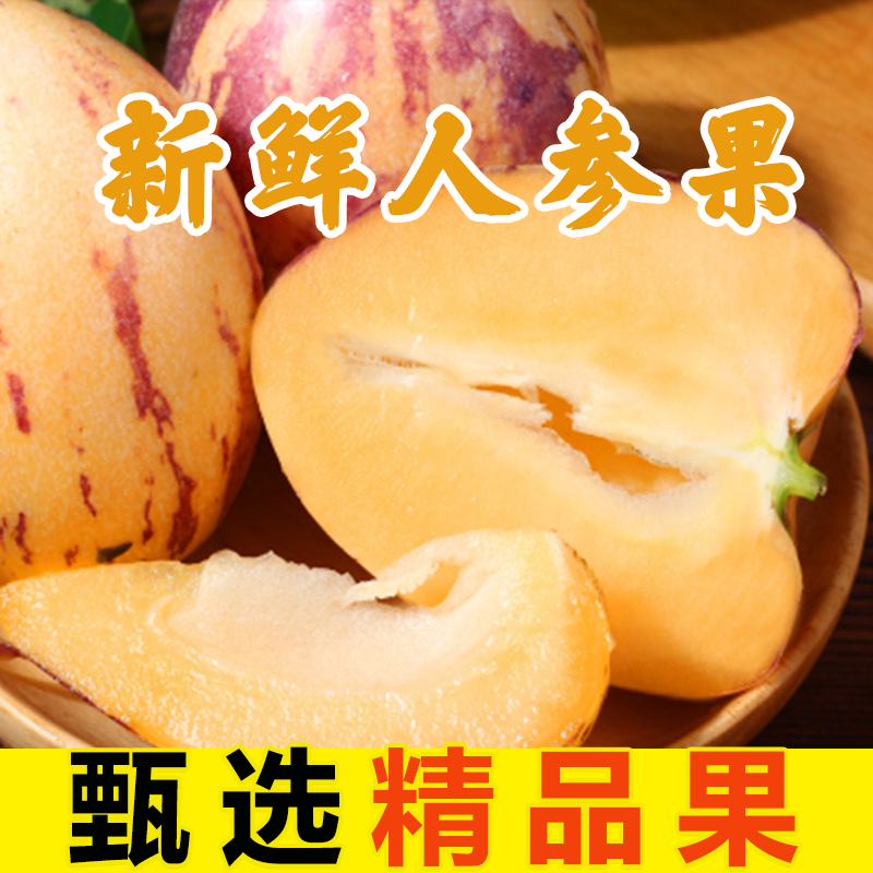 (产地直供)甘肃人参果 2.5kg 新鲜黄肉人参长果沙漠水果