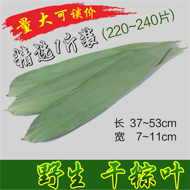 Wholesale price of fresh large-sized zongzi leaves for Dragon Boat Festival