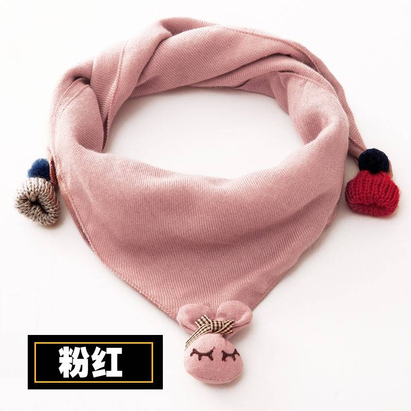 T-shaped triangle scarf nubao scarf autumn girls foreign style childrens scarves spring and autumn thin girls Korean fashion scarves