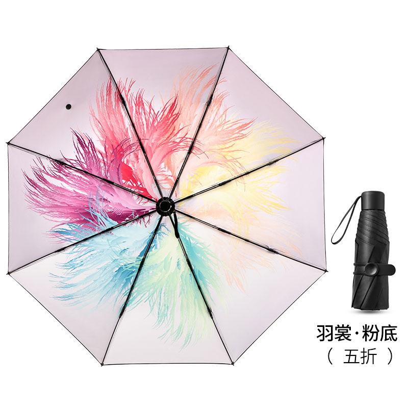 五折太阳伞遮阳防晒防紫外线晴雨(用1元券)