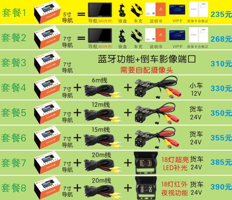 大货车导航仪24v专用凯立德地图车载gps导航7寸电容屏倒车影像