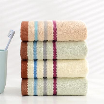 4条毛巾纯棉洗脸家用成人男女洗澡家用柔软吸水不掉毛洗脸帕批发