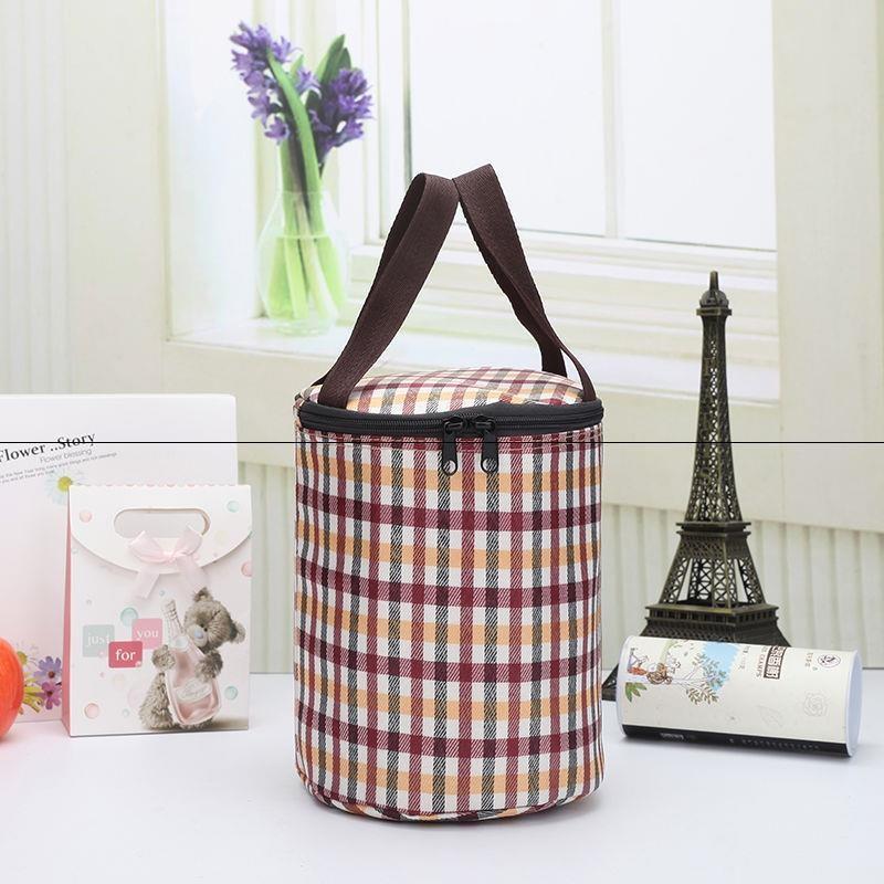 2020圆形保温加厚大容量手提袋饭盒袋便当包手拎桶包带饭环保袋子