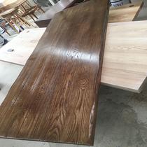 定制红橡木实木吧台板桌面板餐桌台面板原木桌子家用隔断小吧台桌