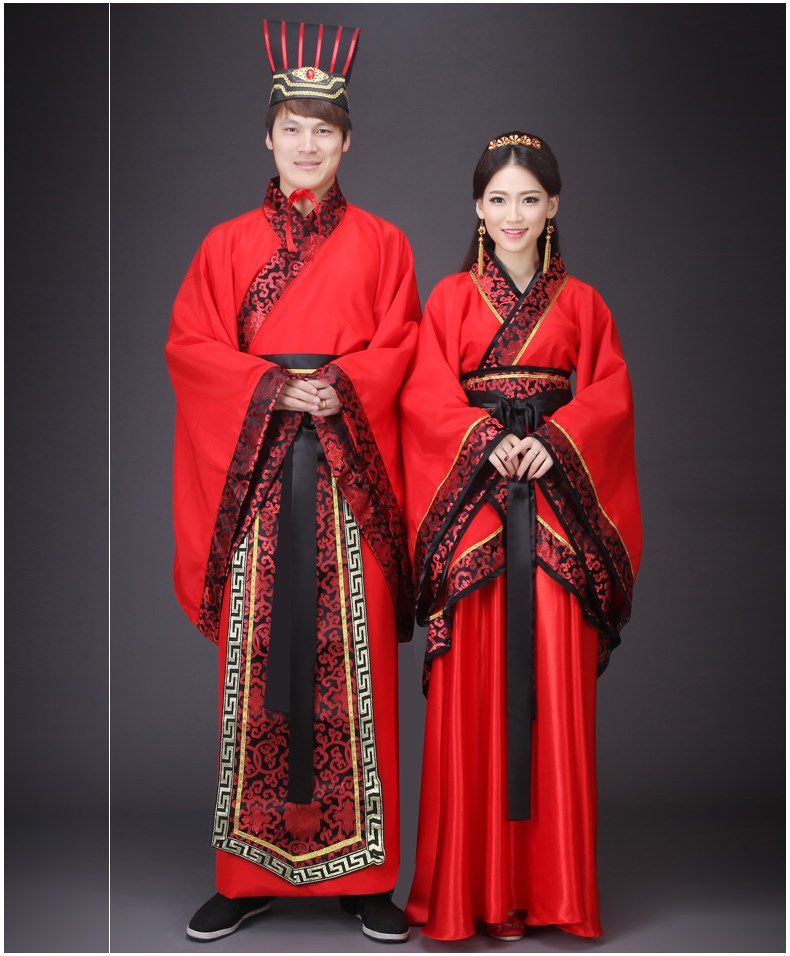 ancient costume hanfu adult men and women tang suit the fairy princess couples costumes Ru skirt wide sleeve biography