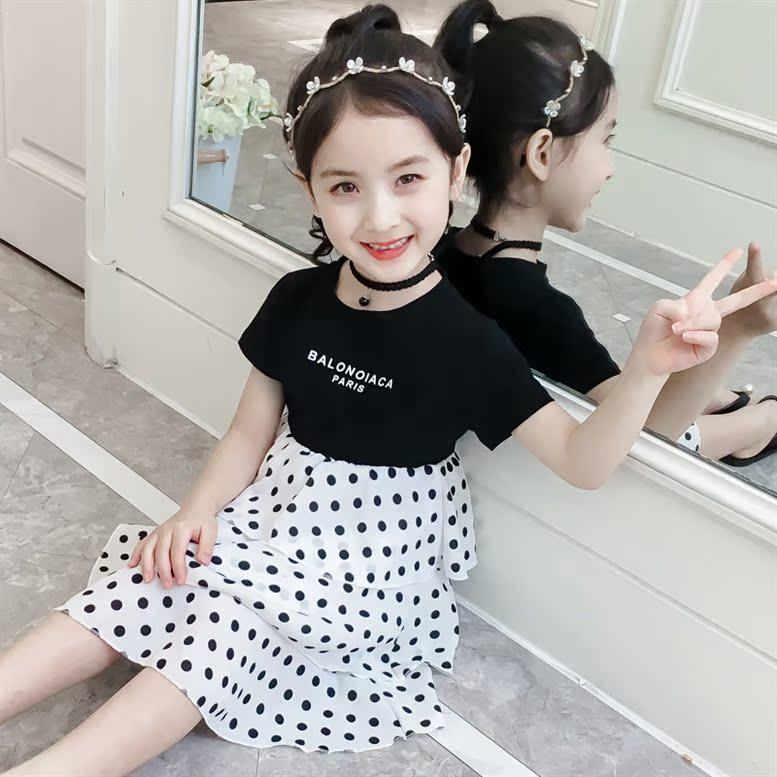 儿童夏款洋气韩版波点女童裙子11月08日最新优惠