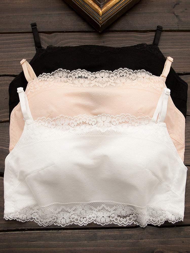 爱慕美背文胸聚拢小胸性感加厚防走光裹胸胸罩抹胸式内衣女交叉带