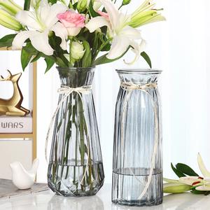 特大号玻璃花瓶透明水养富贵竹百合转运花瓶客厅插花欧式花瓶摆件