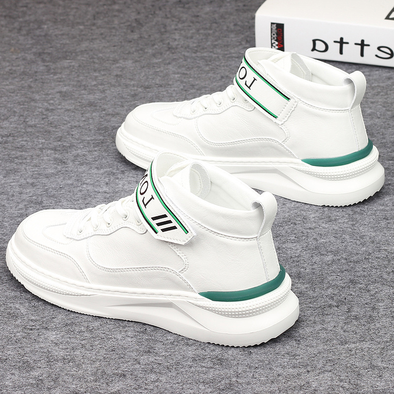 Fashion brand high top small white shoes mens casual sports shoes