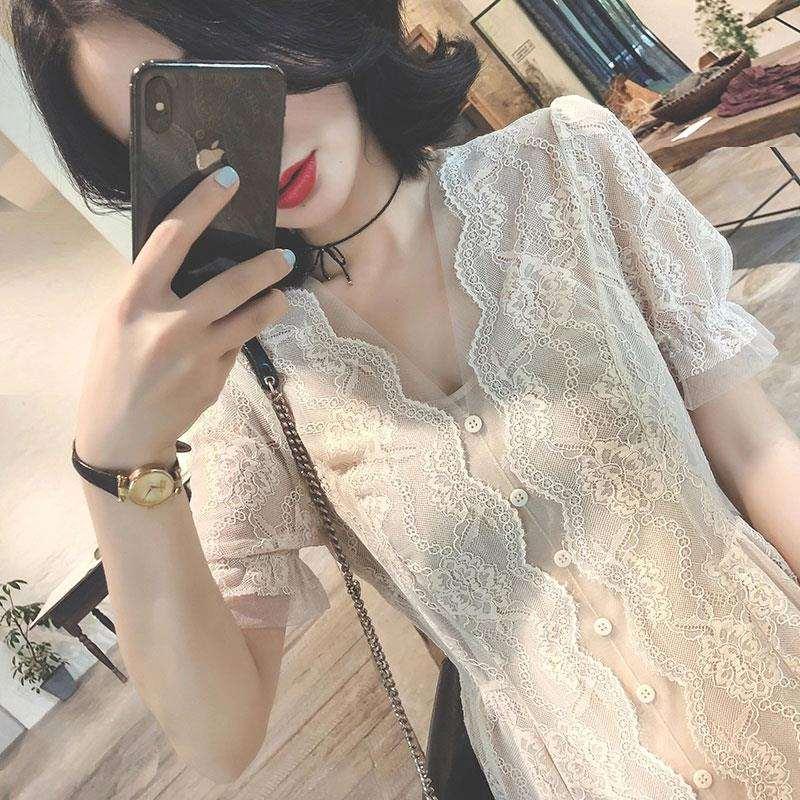 很仙法国小众桔梗超仙女学生森系甜美心机设计感小清新连衣裙子夏限10000张券