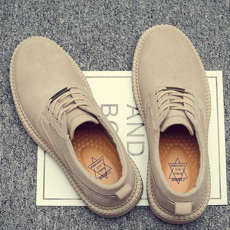 。夏季马丁靴男英伦风低帮短靴高帮工装鞋复古沙漠作战靴子