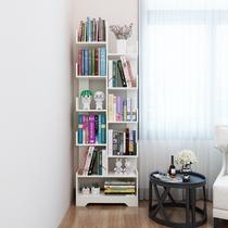 简易书架简约现代落地收纳客厅置物架实木儿童家用学生楠竹书柜子