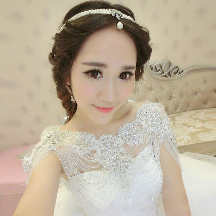 Korean Bridal Necklace shoulder chain wedding dress accessories lace shoulder jewelry Bridal Necklace Set chain jewelry