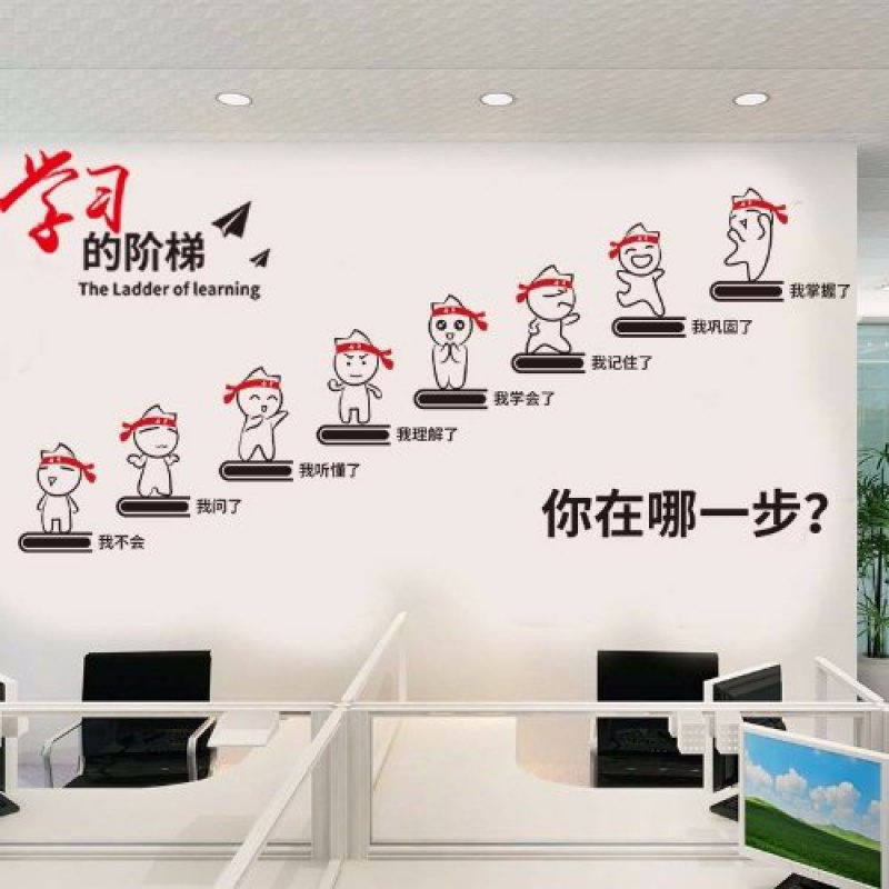 Knowledge changes fate wall stickers inspirational wall stickers slogans classroom dormitories wall stickers stickers decorative stickers