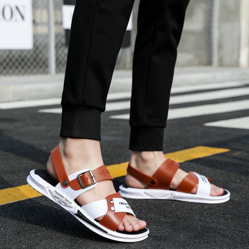 New summer sandals with white bottom buckle, gentle, light and good-looking, cross knot slippers, color matching, milk white pedals in summer