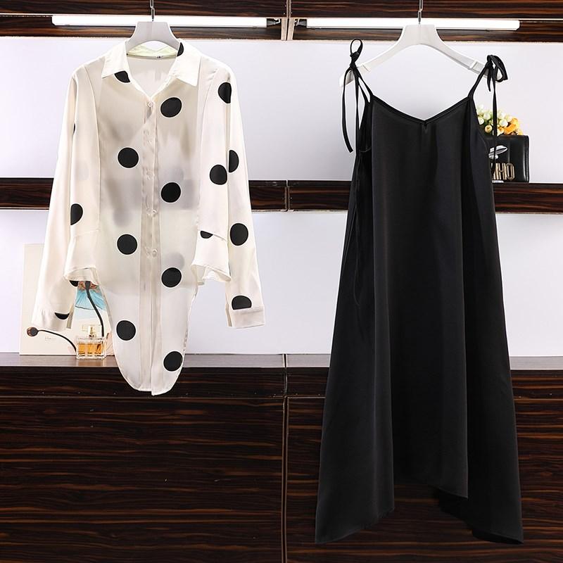夏2019夏装新款韩版大码女装加大时尚洋气防晒衣两件套套装潮