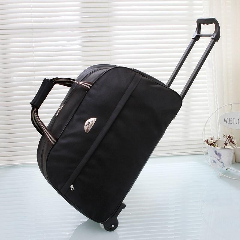 拉杆包旅行袋可登机男女商务手提大容量旅游包折叠带轮子的行李箱