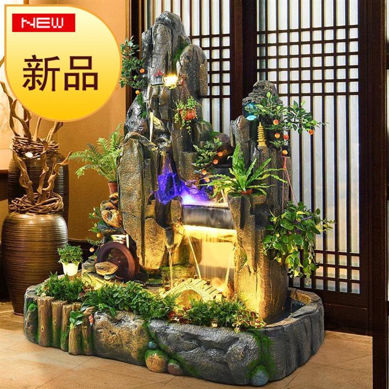 招き石の大型ホールの店舗の花園の水郷の家庭は中国式の築山の流水を流して工芸品を並べます。