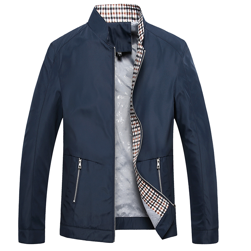 Dad autumn coat middle aged mens casual standing collar jacket 2020 new fashion spring and autumn business top