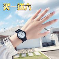 查看学生考试专用手表女简约静音儿童男小学生机械指针女孩防水电子表价格