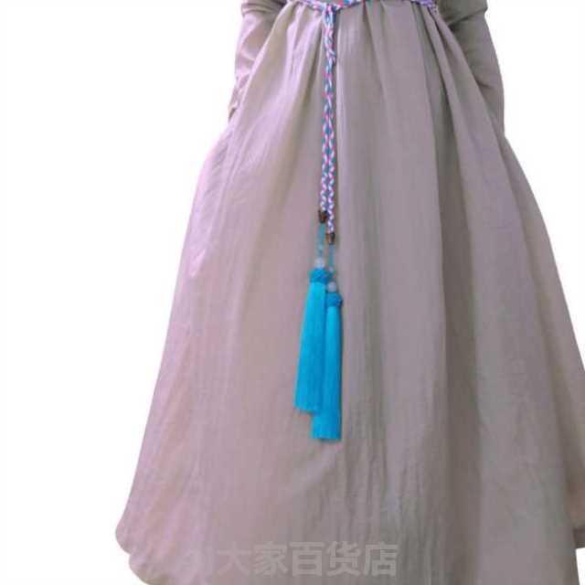 宫涤腰绳玛瑙流苏汉服宫绦超长圆领袍腰绳男女款古风古装腰带混彩